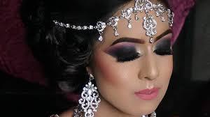 real walima reception bride heavy smokey eyes contemporary asian bridal makeup