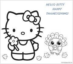 )  3 (full name kitty white (キティ・ホワイト kiti howaito? Hello Kitty And Baby Turkey Happy Thanksgiving Coloring Pages Cartoons Coloring Pages Free Printable Coloring Pages Online
