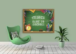 First Day Of School Signs Chalkboard Welcome Back Banner