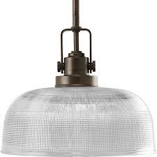 progress lighting archie 10 56 in venetian bronze mini clear glass bell pendant