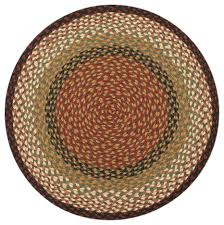 earth rugs c 19 burdy mustard round braided rug 4 feetx4 feet farmhouse area rugs by zeckos
