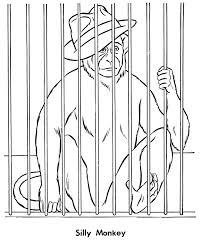 zoo cage coloring page. Plain Coloring Zoo Animal Coloring Page  Monkey In A Cage Inside Cage Coloring Page I