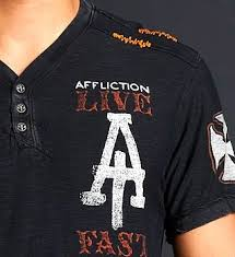 Affliction T Shirt Size Chart Live Fast Customs Ss Henley Tee Affliction For Kids Archaic