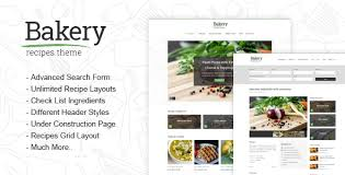 Food Recipe Template Bakery Responsive Recipes Html Template By Different Themes