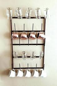 wall mounted coffee cup holders wall mounted mug holder architecture the best mug racks where to