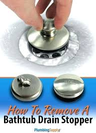 terrific remove stuck bathtub drain stopper bathroom sink parts replace