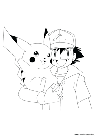 pikachu coloring sheet get this ash and coloring pages ash and coloring pages ash and coloring