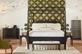 Magnolia Home Farmhouse Queen Carriage Canopy Bed