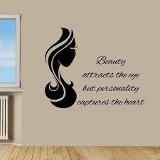 Beauty Parlour Quotes Best of Wall Decals Quote Beauty Attracts The Eye Vinyl Sticker Beauty Salon