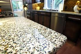 recycled materials make countertops visually vibrant eco friendly