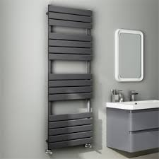 Image Wall Mounted Black Towel Rails Plumbworld Towel Rails Heated Towel Rails Bella Bathrooms
