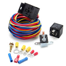 electric cooling fan wire harness kit relay circuit breaker wiring electric cooling fan wire harness kit relay circuit breaker wiring harness sbc sbf 302 350 454 cod