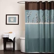 Blue Grey Brown Shower Curtain Shower Curtain Ideas
