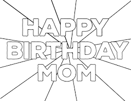 Help your child to color this page; Free Printable Happy Birthday Coloring Pages Paper Trail Design