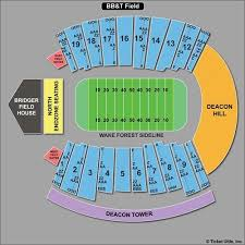 Wake Forest Stadium Seating Chart Accurate Wake Forest Football Seating Diagram Wake Forest