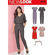New Look Patterns Stunning New Look Patterns Misses' Jumpsuit And Dress In Two Lengths Size A