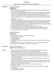 Security Analyst Resume Samples Velvet Jobs