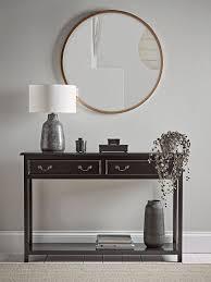 bevelled round mirror antique brass