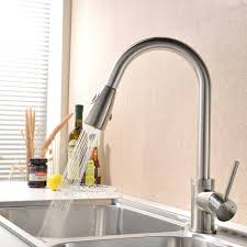 vapsint stainless steel single handle pull out kitchen sink faucet brushed nickel pull down kitchen faucets
