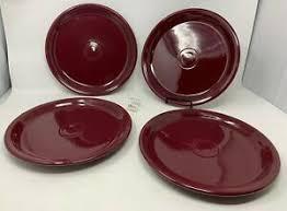 set of 4 fiesta claret wine burgundy