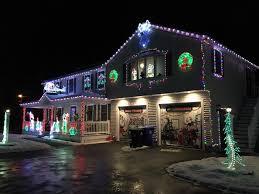 christmas home lighting. Image May Contain: Night, House And Outdoor Christmas Home Lighting