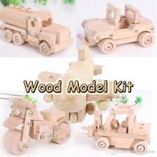 tonka wood disassembly and assembly model plane car tanker forklift motorcycle wood model kits children educational creative toy educational kids