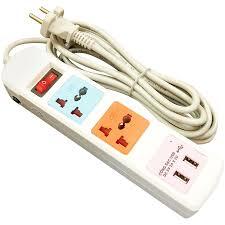 Ổ cắm điện HONJIANDA loại 2 ổ và 2 cổng USB - HJD-0533B-2U - Ổ cắm điện  Thương hiệu Honjianda