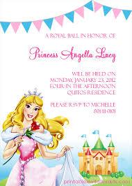 Free Disney Invitation Templates Disney Princess Aurora Sleeping