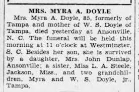 Myra Steele Doyle - Newspapers.com