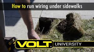 how to install landscape lighting wire under a sidewalk volt how to install landscape lighting wire under a sidewalk volt® university