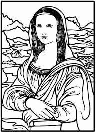 Mona Lisa Coloring Page Printable Free Printable Mona Lisa Coloring