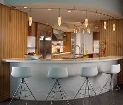 Bar Design With Attractiva Track Pendant Lamp Lighting Feat White Leather  Stools. Home U203a Kitchen