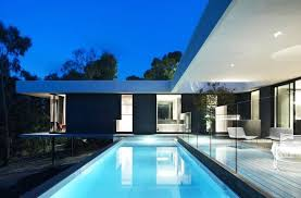 u shaped house with pool modern u shaped house plans plan pool home designs pools in