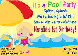 how to create pool party birthday invitations ideas with charming design of how to select the