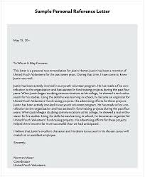 Letters Of Recommendation Personal Sample Letter Of Recommendation For Immigration Residency