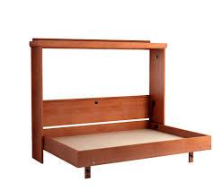 mission horizontal murphy bed in oak cherry open