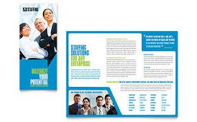 Recruitment Brochure Template Staffing Recruitment Agency Brochure Template Design