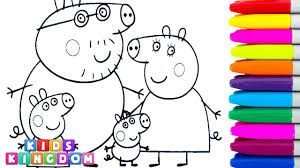 Small Picture Coloring Pages for Children Peppa Pig Daddy Pig Mummy Pig George