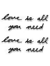 <b>Надпись декоративная Love</b> is all you need настенная черная ...