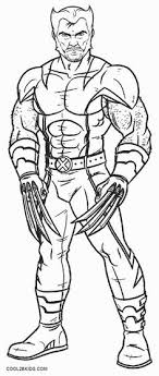 Small Picture Printable Wolverine Coloring Pages For Kids Cool2bKids Comic