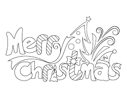 Candy cane coloring page by dover publications. Printable Cute Merry Christmas Coloring Page