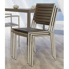 stylish stackable patio dining chair the niko outdoor side chair is residence plan on outdoor