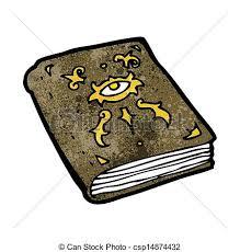 cartoon magic spell book csp14874432