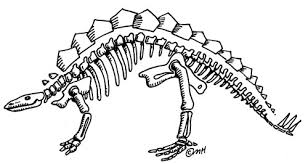 Clipart Dinosaur Bones Great Free Clipart Silhouette Coloring