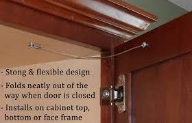 snless steel cabinet door restraint kit packs of 2 5 10 or 50 8 inch cupboard hinge limiter restrict door swing flexible braided cable