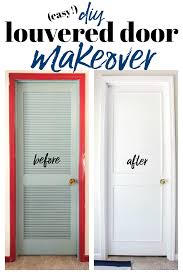 diy louvered closet door makeover how to cover louvered doors doormakeover closetmakeover
