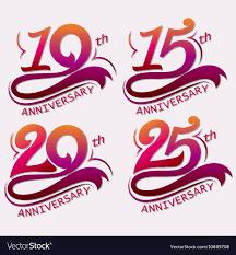 Anniversary Template Anniversary Design Template Celebration Sign Vector Image