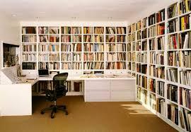home office bookshelves. Beautiful-White-Bookshelf-in-Small-Home-Office-Furniture Home Office Bookshelves A