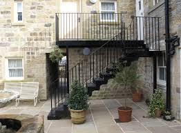 external handrails for steps uk. external staircase at the yorke arms, ramsgill, harrogate handrails for steps uk