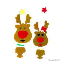 Magicgel Fensterbilder Weihnachten Rentiere Junge Und